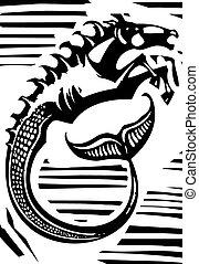mythologisch, hippocampus
