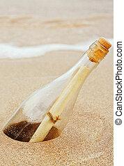 Nachricht in einer Flasche