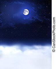 nacht, dreams..., mond, licht