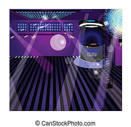 Nachtclub-Innenraum