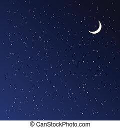 Nachthimmel. Vector Illustration.