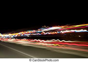 Nachtlichter auf dem Highway
