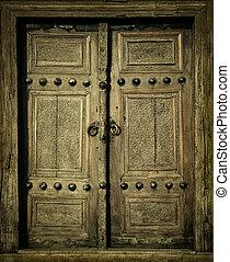 Nahaufnahme alter Türen