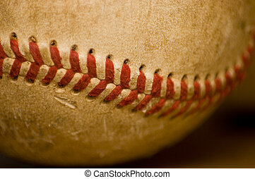Nahaufnahme des Baseballballs