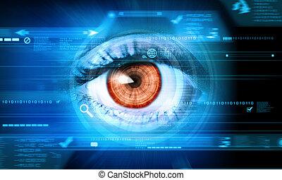 Nahaufnahme des menschlichen Auges