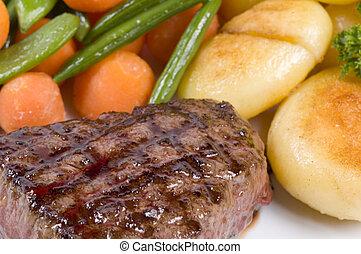 Nahaufnahme von Steak