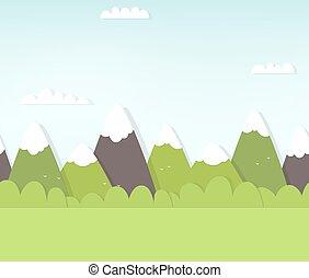 Nahelose Berglandschaft