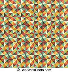 Nahelose geometrische Dreieckskulpturen.