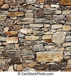 Nahelose Textur der mittelalterlichen Wand aus Steinblöcken.