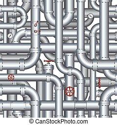 Nahmlose abstrakte Pipelinemuster. Vector Hintergrund
