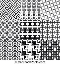 Nahmlose geometrische Maschenmuster.