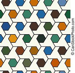 Nahmlose geometrische Muster.