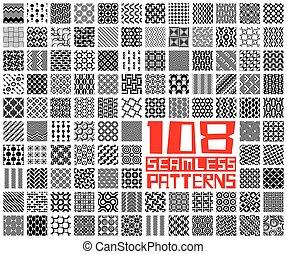 Nahmlose geometrische Muster eingestellt