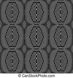 Nahmlose geometrische Struktur. Op Art Muster.