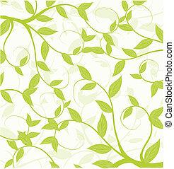 Nahtlose Muster abstrakter Blätter.