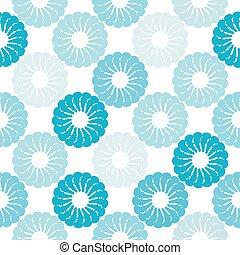 Nahtlose Muster mit abstrakten Blumen.