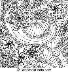 Nahtlose Muster mit Blumenelementen.
