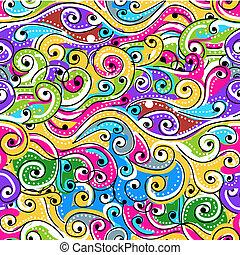 Nahtlose Wellen-Hand gezeichnet Muster für Ihr Design, abstrakte Hintergrund.