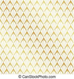 Nahtloses Gold-Art-Deco-Muster.