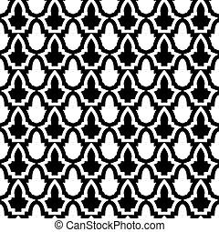Nahtloses Muster im mosaischen ethnischen Stil.