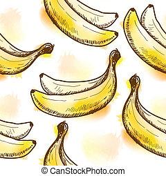 Nahtloses Muster mit Banane