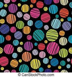 Nahtloses Muster mit farbigen, ausgebrannten Kreisen.