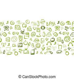 Nahtloses Muster mit IT-Geräten für Ihr Design.
