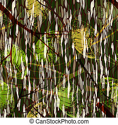 Nahtloses Muster mit realistischen Blättern