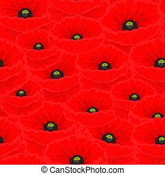 Nahtloses Muster mit roten Mohn.