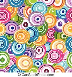 Nahtloses Muster mit unterschiedlichen Kreisen.