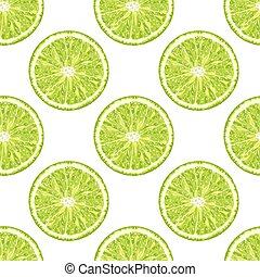 Nahtloses Stück Kalk. Vector citrus Hintergrund