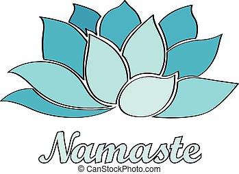 Namaste - Lotusblüte