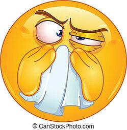 Nasen-Emoticon abwischen
