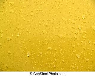 Nasses gelbes Metall abstrakt.