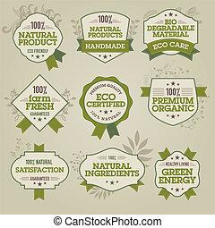 Natürliche Etiketten