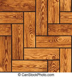 Natürliche, nahrlose Struktur - Holzparquet