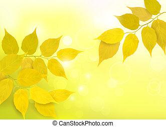 Natürlicher Hintergrund mit Blättern