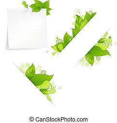 Natürlicher Hintergrund mit Blättern und Tropfen