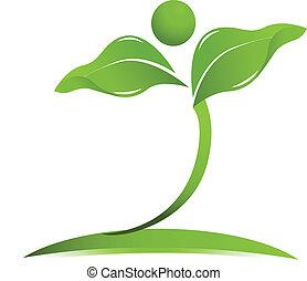 Natürliches Gesundheits-Logo-Vektor