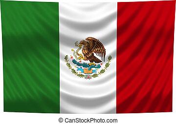 Nationale Flagge Mexiko
