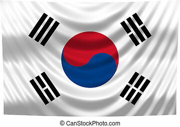 Nationale Flagge Süd-Korea