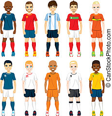 Nationale Fußballspieler.