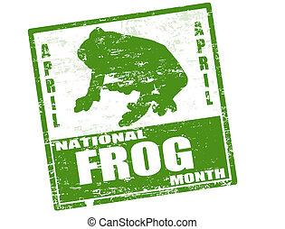Nationaler Froschmonatsstempel