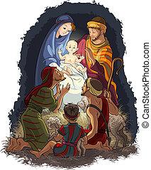 Nativity Jesus Maria Joseph Shepherd