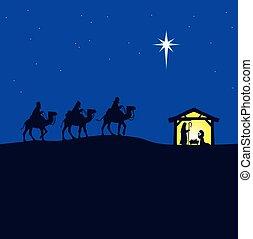 Nativity Szene.