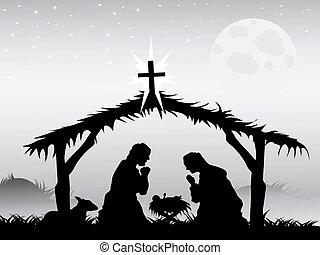 Nativity-Szene, Vector