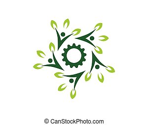 Natur Menschen Gesundheit Logo Vektorvorlage.