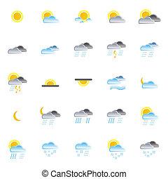 Natur und Wetter-Ikonen