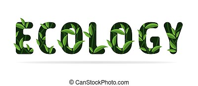 natur, wort, begriff, design., grün, ökologie, blätter, care.