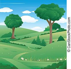 Naturlandschaft mit Baum